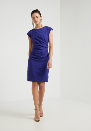 STRETCH - Shift dress - deep ocean blue
