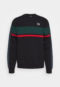 sergio tacchini - BOSTON SWEATER - Sweatshirt - black/botanical - 0