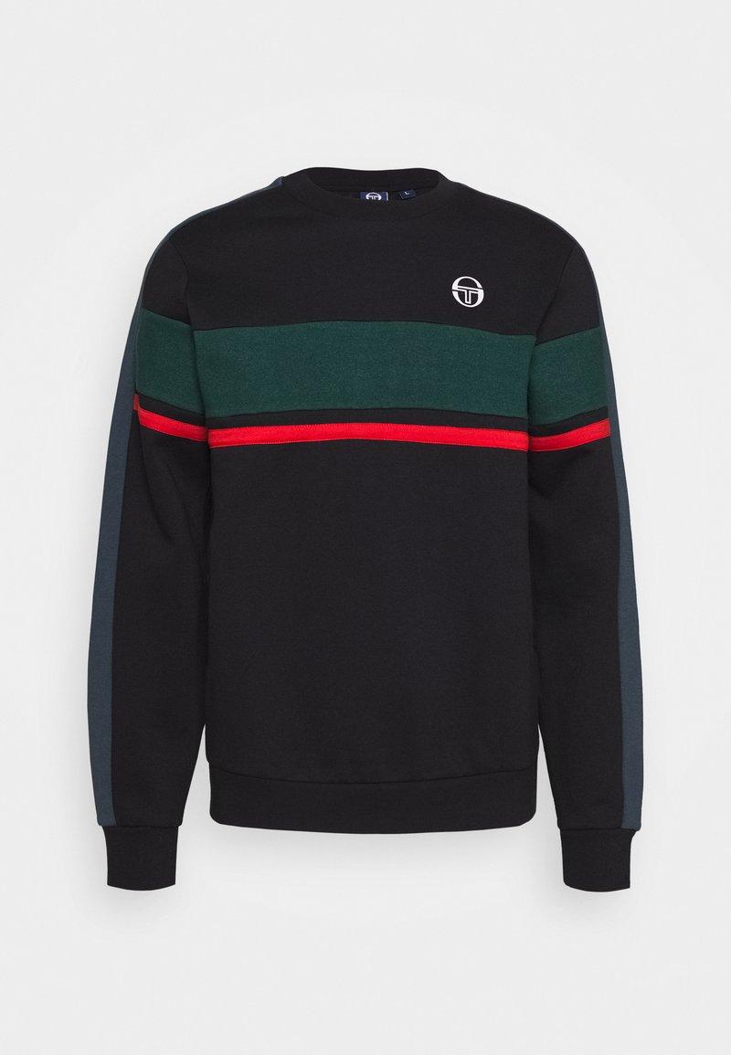 sergio tacchini - BOSTON SWEATER - Sweatshirt - black/botanical