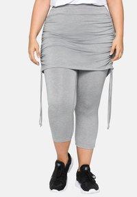 Sheego - Leggings - Trousers - mottled light grey - 0