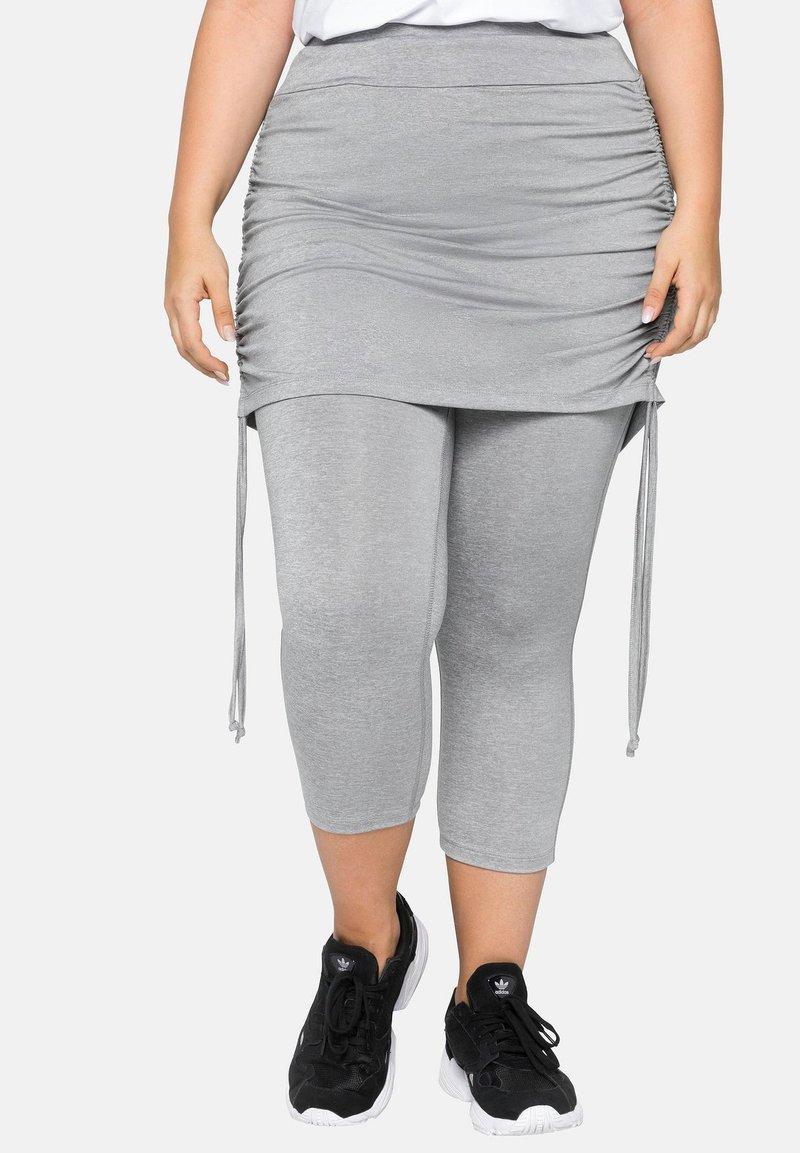 Sheego - Leggings - Trousers - mottled light grey