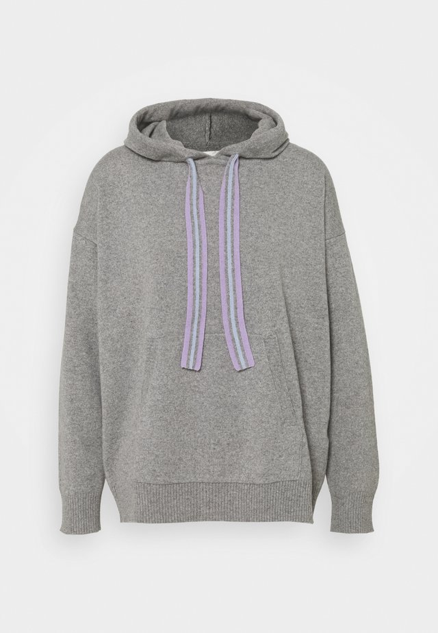RING MASTER HOODIE - Sweat à capuche - grey/lilac/blue
