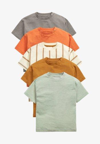 5 PACK - Print T-shirt - grey