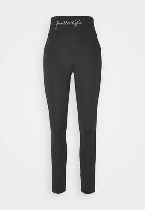 HIGH WAIST LOGOTIGHTS - Leggings - Trousers - black