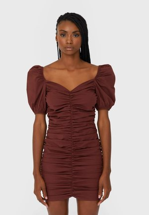 Shift dress - brown