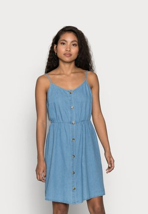 VMFLICKA STRAP SHORT DRESS - Dongerikjole - light blue denim