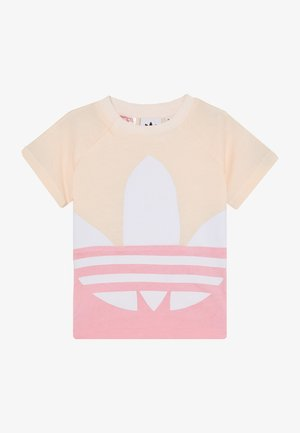 BIG TREFOIL TEE  - Camiseta estampada - pink/white