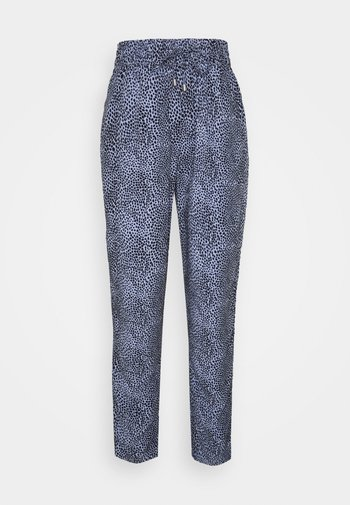 ANIMAL TAPER TROUSERS - Trousers - blue
