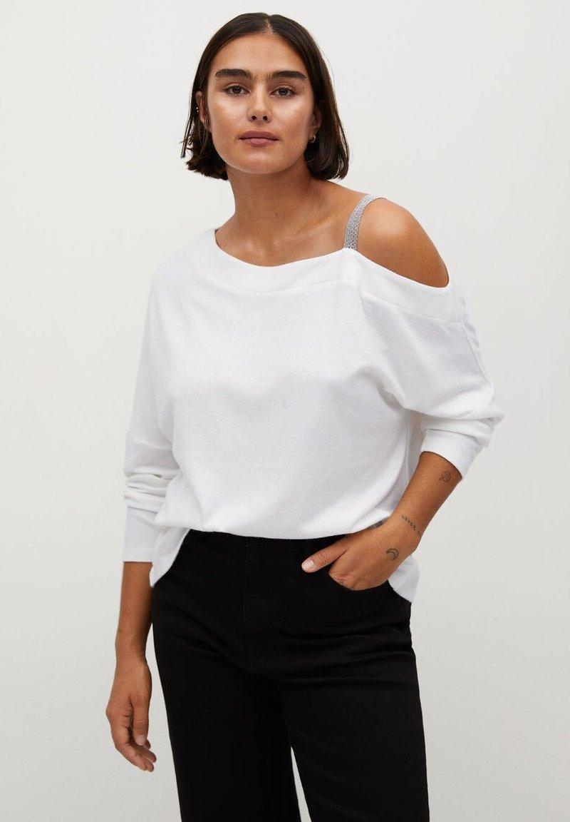 Violeta by Mango - BLANKI - Long sleeved top - cremeweiß
