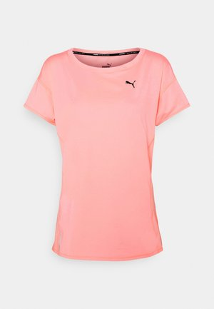 TRAIN FAVORITE TEE - T-Shirt basic - elektro peach