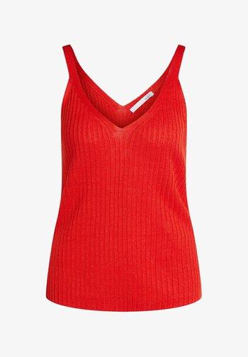 Top - fiery red