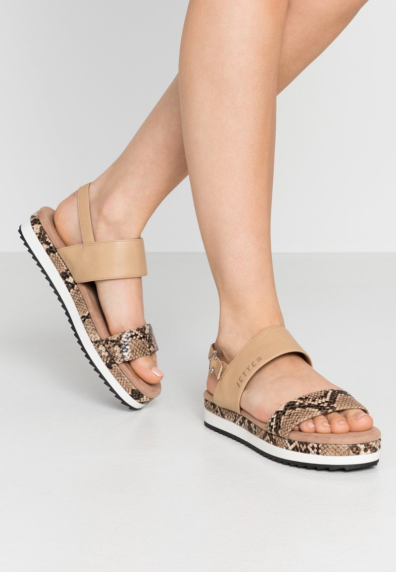 JETTE - Sandály na platformě - rose
