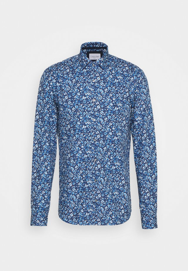 PRINTED CONTRAST SLIM SHIRT - Shirt - blue