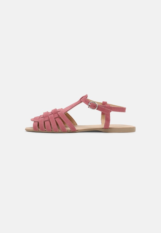 LEATHER - Sandals - berry