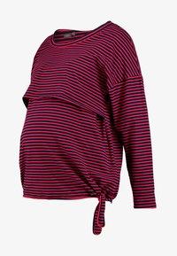 ohma! - NURSING STRIPES - Langærmede T-shirts - red/navy - 5