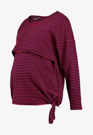 NURSING STRIPES - Camiseta de manga larga - red/navy