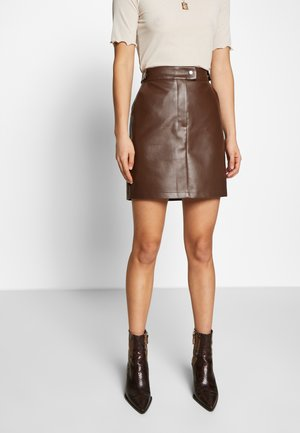 Misslisibell x NA-KD - Áčková sukně - cocoa