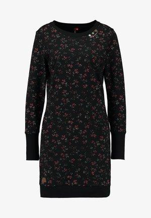 MENITA FLOWERS - Vestido informal - black
