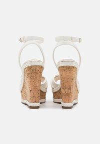 ALDO - ABAWEN - Platform sandals - white - 3