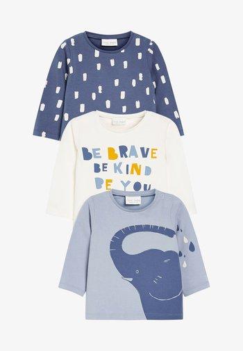 3 PACK - Maglietta a manica lunga - blue