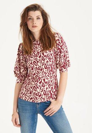 RIB JERSEY TEE - T-shirt print - red