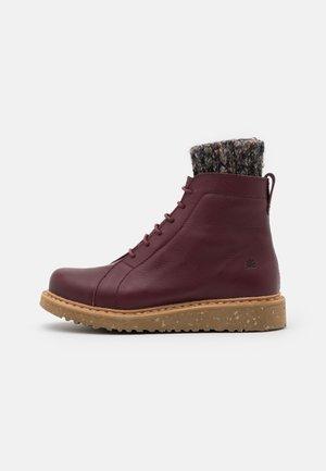 PIZZARA - Platform ankle boots - soft grain brown/arena