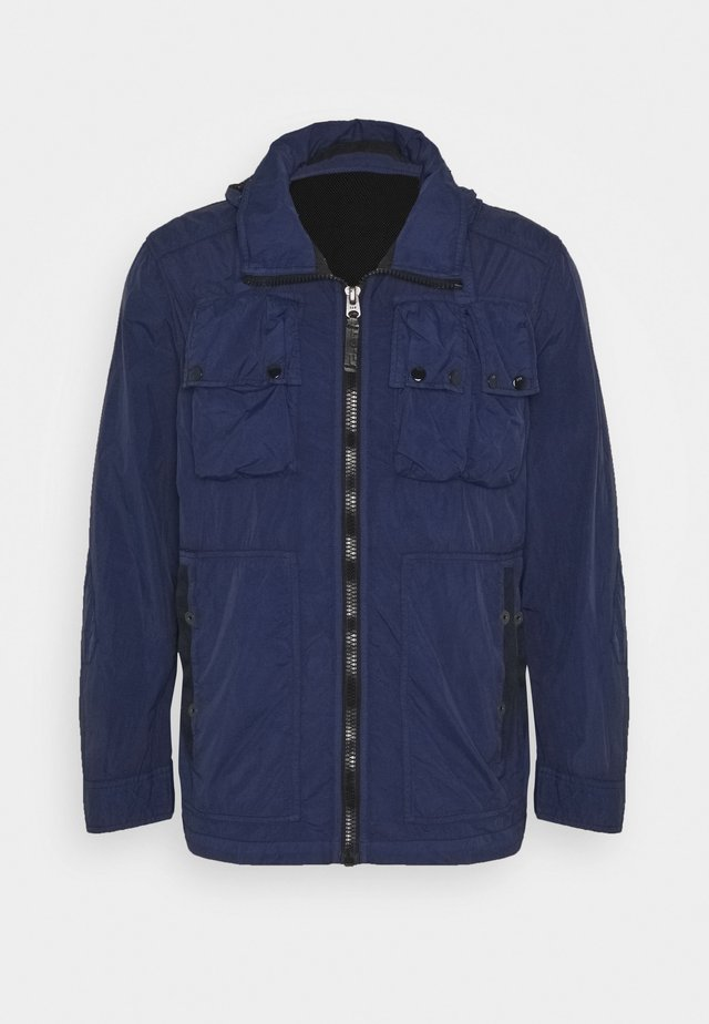 OSPAK HDD OVERSHIRT L/S - Summer jacket - kexo nylon od - dk police blue