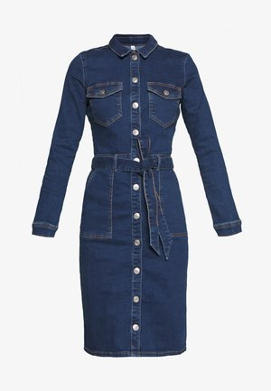 ONLFLAKE BODYCON DRESS - Denim dress - medium blue denim