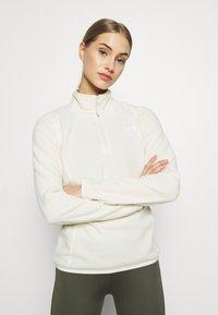 The North Face - WOMEN'S GLACIER 1/4 ZIP - Fleece jumper - vintage white - 0