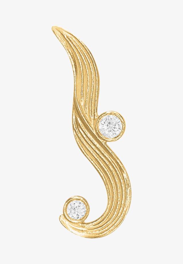 Single earring - The Darning Needle - Right - Øreringe - gold
