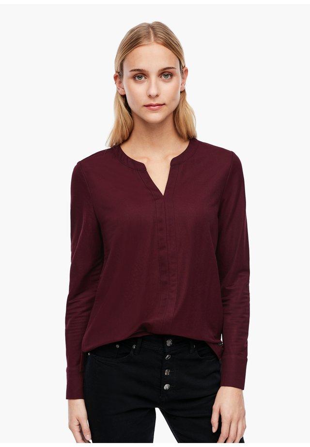 Bluse - dark red