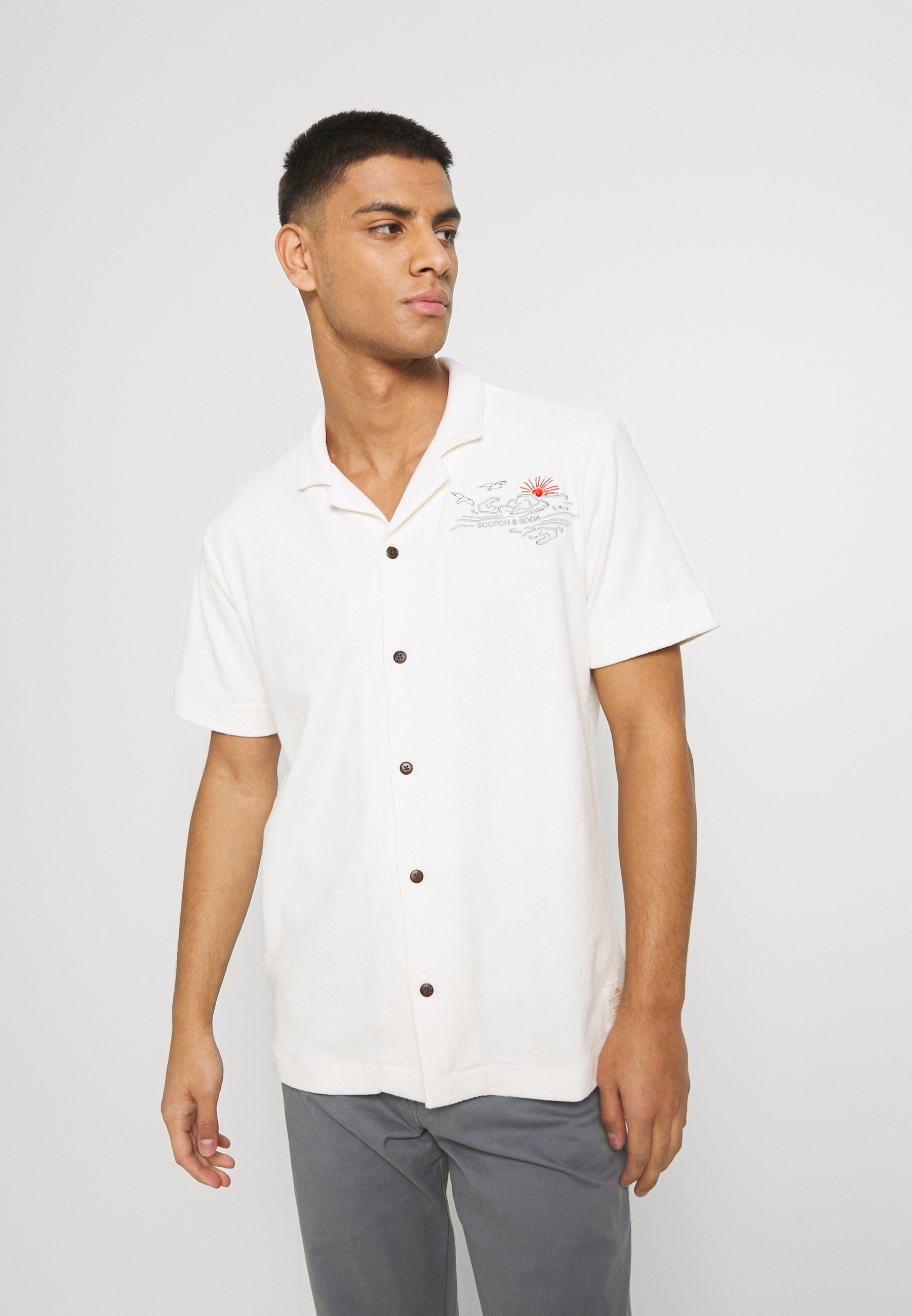 Uomo HAWAII SHIRT WITH EMBROIDERIES - Camicia