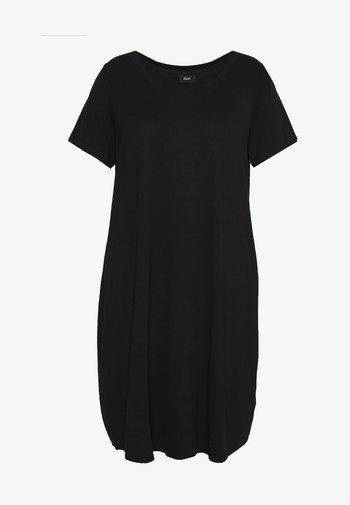 VFREJA DRESS - Jersey dress - black