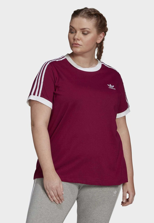 3-STRIPES T-SHIRT (PLUS SIZE) - T-shirt imprimé - purple