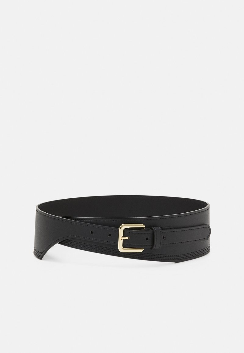 Pieces - PCGLORINNA WAIST BELT - Midjebelte - black/gold