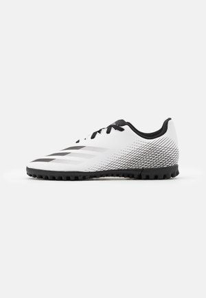 X GHOSTED FOOTBALL BOOTS TURF UNISEX - Astro turf trainers - footwear white/core black/silver metallic