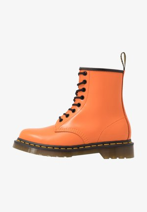 1460 EYE BOOT - Lace-up ankle boots - orange smooth