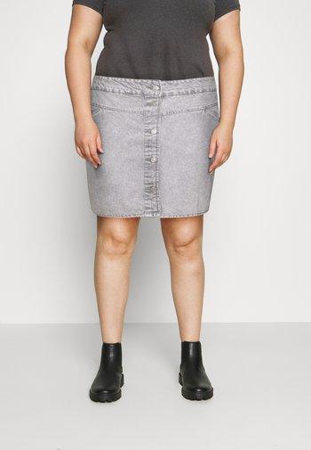 NMBE JUNE SHORT SKIRT - Mini skirt - light grey denim