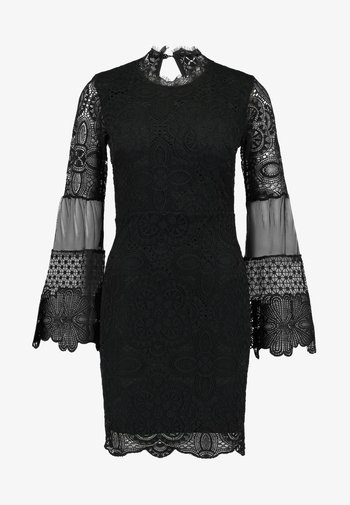 DETAIL MINI DRESS - Cocktail dress / Party dress - black