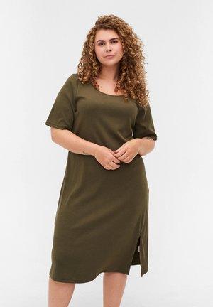 Gebreide jurk - ivy green