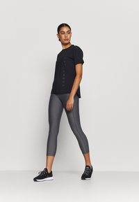 Under Armour - HI RISE CROP - Tights - charcoal light heather - 1
