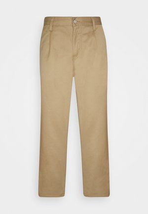 ABBOTT PANT DENISON - Kalhoty - leather rinsed