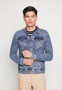 TOM TAILOR DENIM - STRETCH JACKET - Denim jacket - blue denim - 0