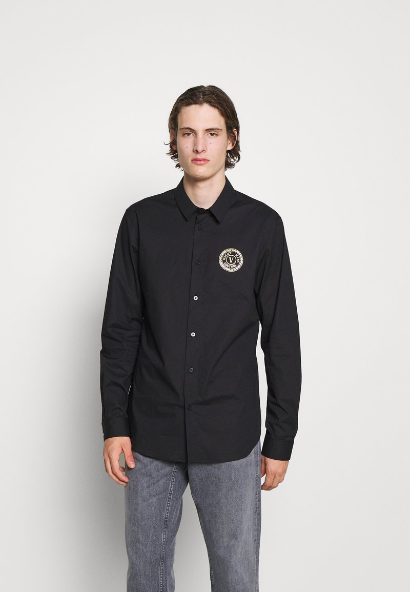 Versace Jeans Couture - POPELINE STRETCH - Shirt - nero