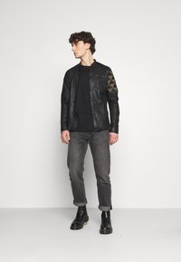 Be Edgy - BECOEN - Leather jacket - black red