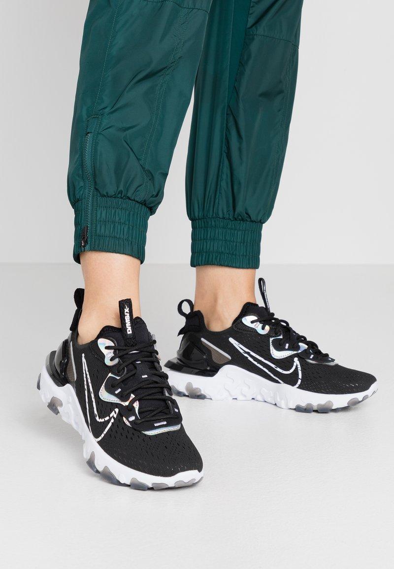 Nike Sportswear - REACT VISION - Trainers - black/white
