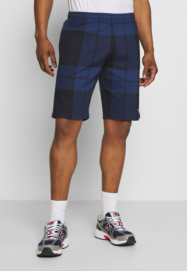 TARTAN PRINT - Shorts - atlantic blue