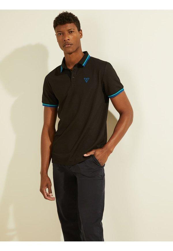 Guess Koszulka polo - schwarz/czarny Odzież Męska ABAF
