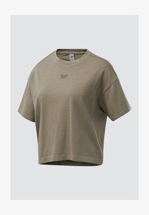 REEBOK CLASSICS NATURAL DYE CROPPED T-SHIRT - Camiseta básica - grey