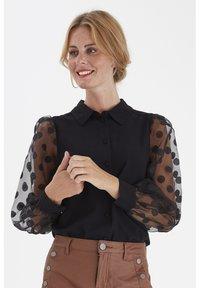 Fransa - FRNABURN - Button-down blouse - black - 0